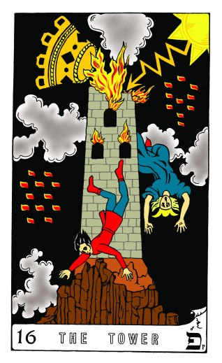 Tarot Keys 1-29-06 009 The Tower #16
