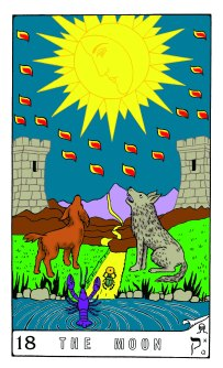 Tarot Keys 1-29-06 011 The Moon #18