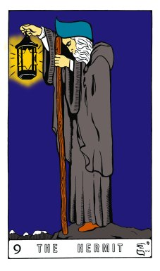 Tarot Keys 1-29-06 022 The Hermit #9